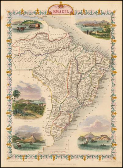 92-Brazil Map By John Tallis