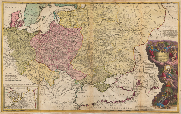 0-Germany, Poland, Russia, Ukraine, Baltic Countries, Balkans and Scandinavia Map By Herman Moll
