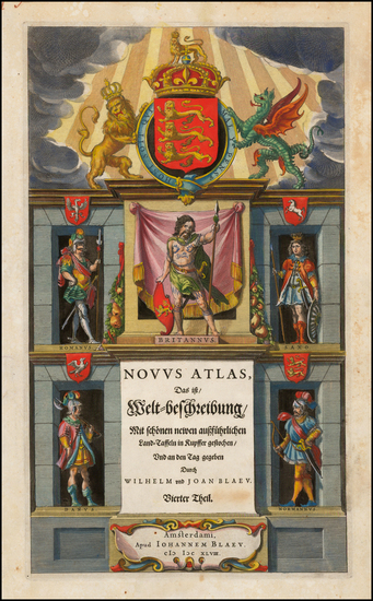 97-Title Pages Map By Willem Janszoon Blaeu