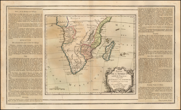 62-South Africa Map By Louis Charles Desnos
