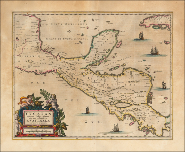 22-Mexico and Central America Map By Johannes Blaeu