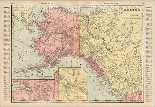 75-Alaska Map By George F. Cram