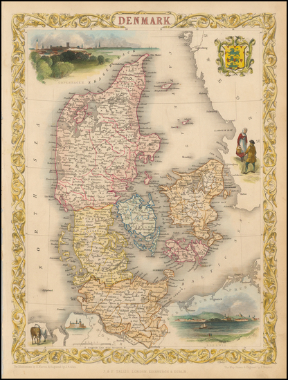 78-Scandinavia Map By John Tallis