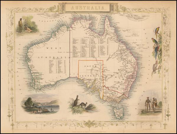 41-Australia Map By John Tallis