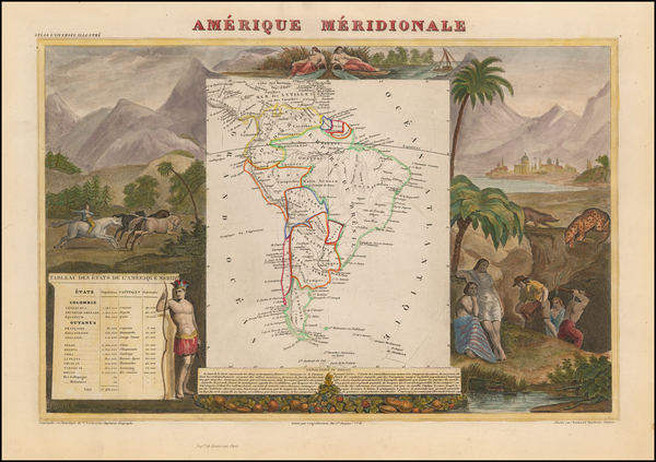88-South America Map By Victor Levasseur