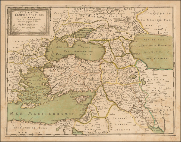 13-Turkey, Central Asia & Caucasus and Turkey & Asia Minor Map By Nicolas Sanson