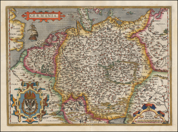 22-Netherlands, Germany, Poland and Baltic Countries Map By Abraham Ortelius