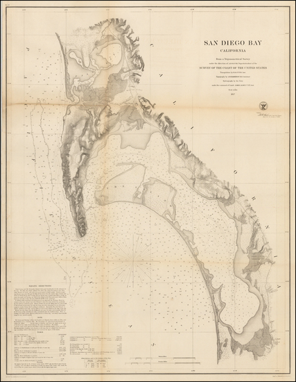 36-California and San Diego Map By United States Coast Survey