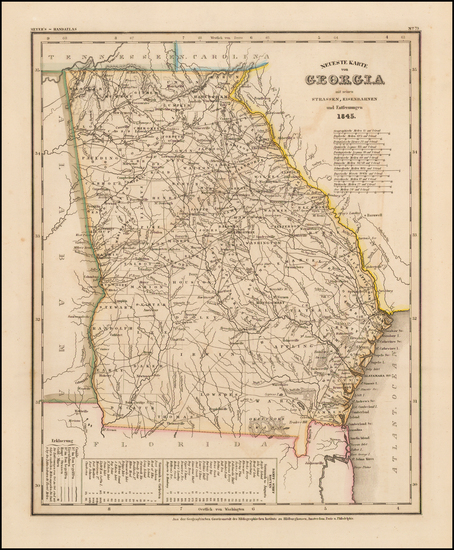 Southeast and Georgia Map By Joseph Meyer