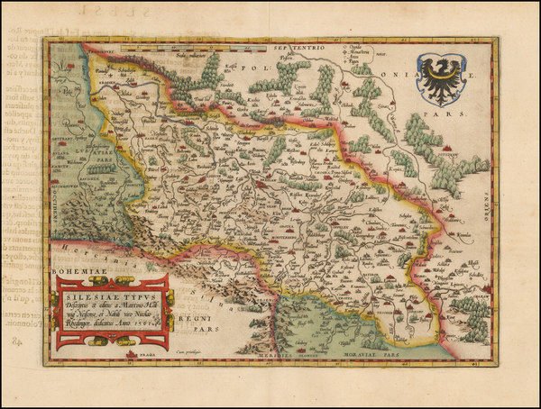 9-Germany and Poland Map By Abraham Ortelius
