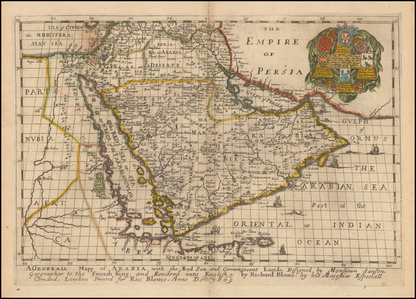1-Middle East and Arabian Peninsula Map By Richard Blome