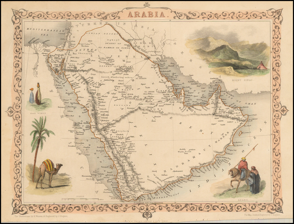 35-Middle East Map By John Tallis