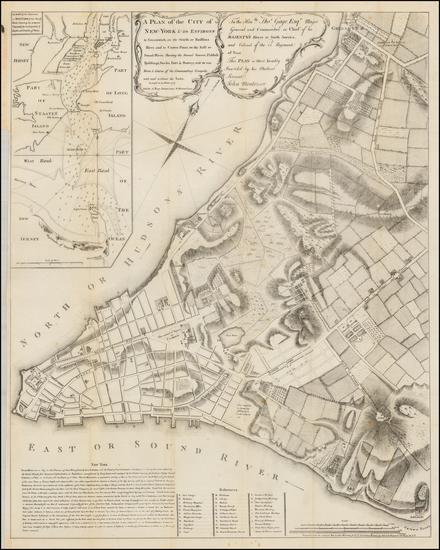 100-New York City Map By Valentine's Manual / John Montresor