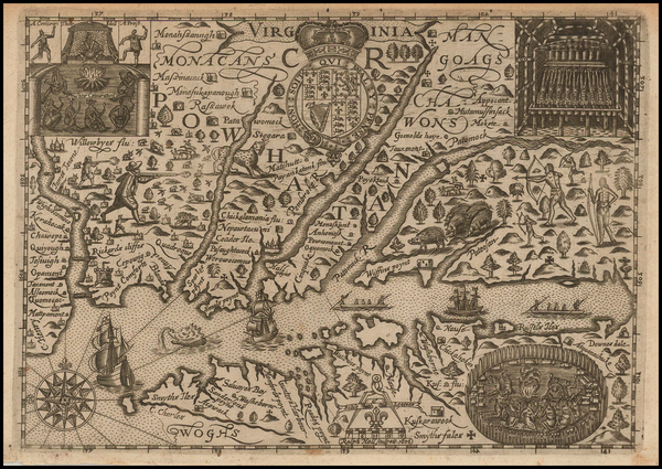 72-Mid-Atlantic and Southeast Map By Ralph Hall