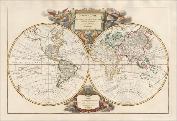 World Map By Gilles Robert de Vaugondy