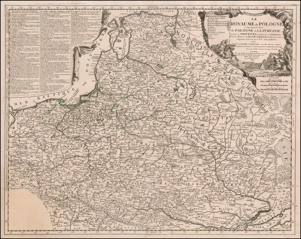 82-Poland, Ukraine and Baltic Countries Map By Jean-Baptiste Nolin