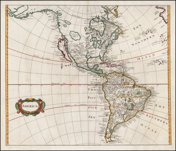 46-South America and America Map By Robert Morden