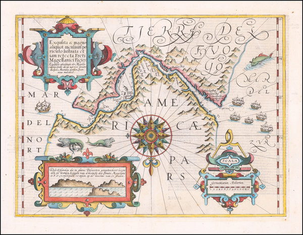 43-Polar Maps and South America Map By Gerard Mercator