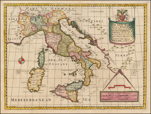 60-Italy Map By Edward Wells