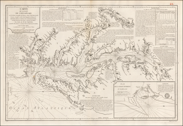 68-Mid-Atlantic, Southeast and Virginia Map By Depot de la Marine / Anthony Smith