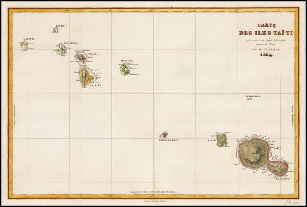73-Other Pacific Islands Map By Jules Sebastian Cesar Dumont-D'Urville