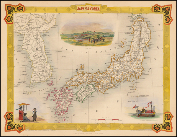 95-Japan and Korea Map By John Tallis