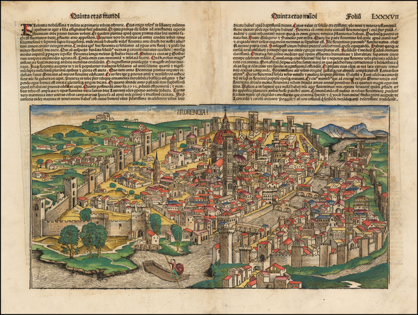 60-Italy Map By Hartmann Schedel
