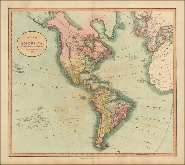 89-South America and America Map By John Cary