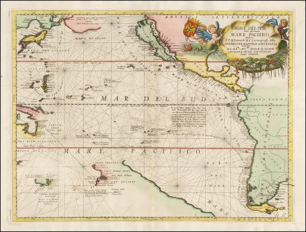 100-Australia & Oceania, Pacific, Australia, Oceania, New Zealand, Hawaii and California Map By