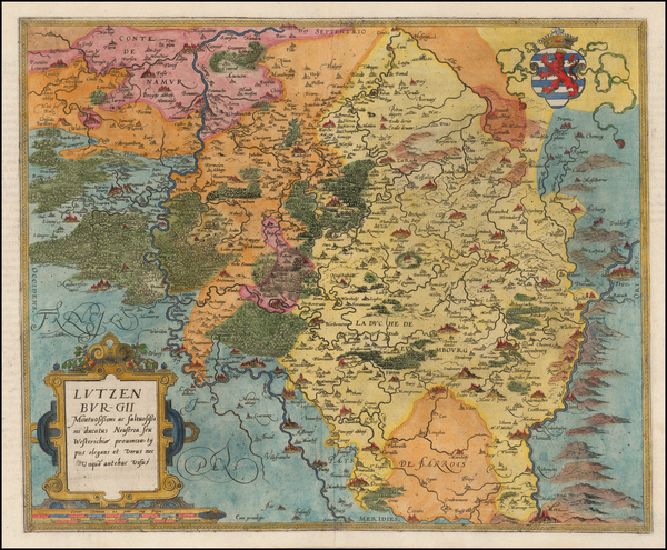 35-Luxembourg Map By Gerard de Jode