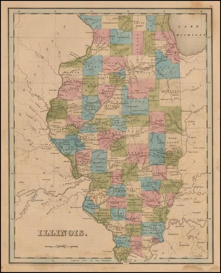 72-Midwest and Illinois Map By Thomas Gamaliel Bradford