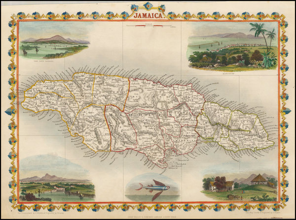 20-Caribbean and Jamaica Map By John Tallis
