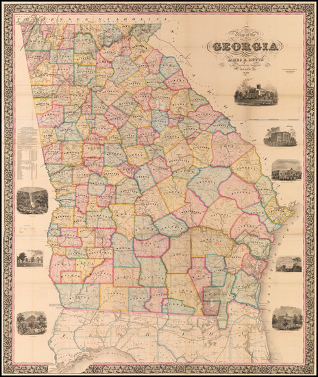 Southeast and Georgia Map By James R. Butts