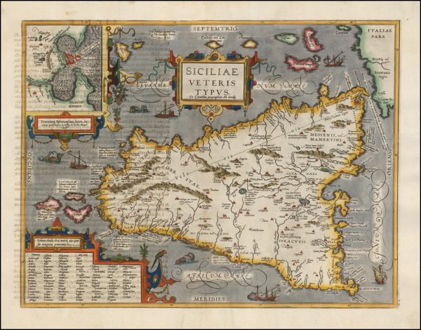 46-Italy and Balearic Islands Map By Abraham Ortelius