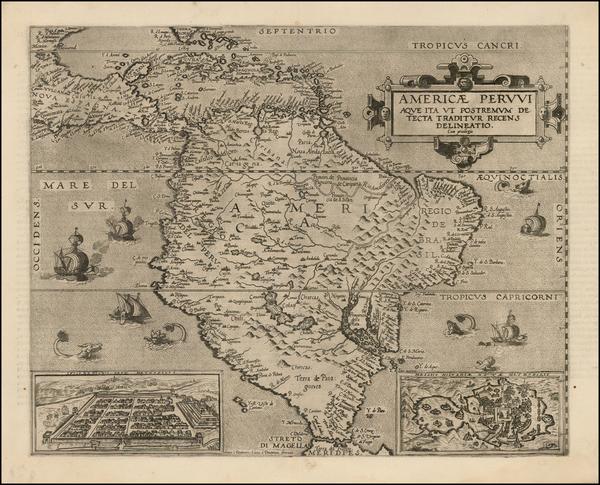 19-South America and Brazil Map By Cornelis de Jode