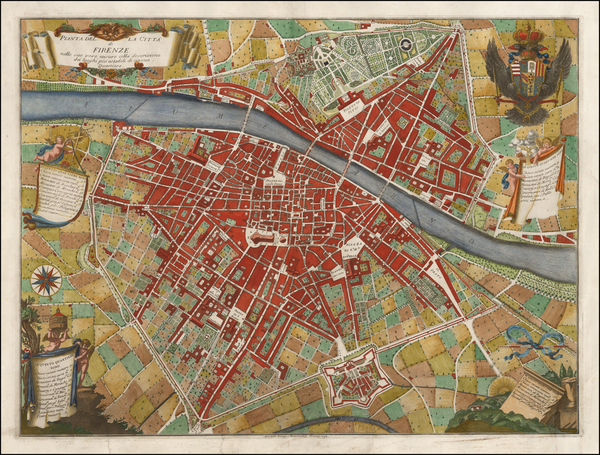 Italy and Other Italian Cities Map By Giuseppe Bouchard / Ferdinando Ruggieri