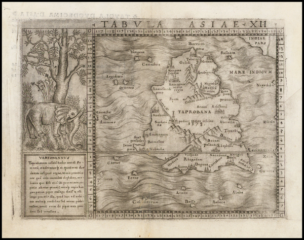 9-Indian Ocean and India Map By Giacomo Gastaldi