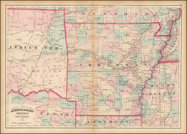 12-South, Arkansas and Plains Map By Asher / Adams