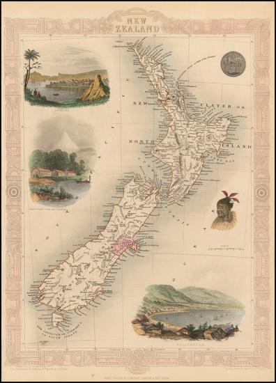 99-New Zealand Map By John Tallis