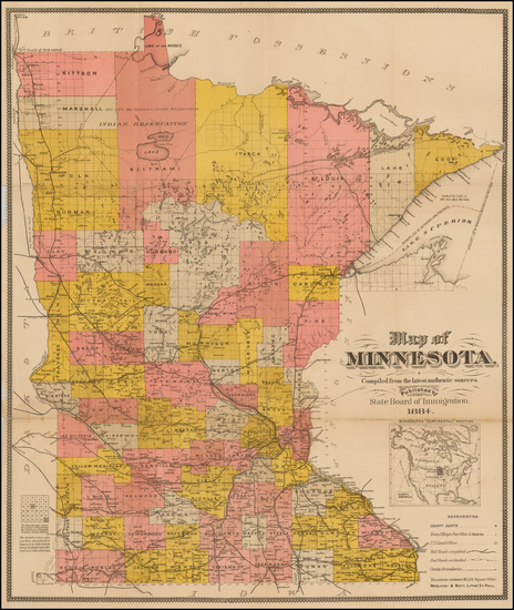 32-Minnesota Map By Berlandi & Bott