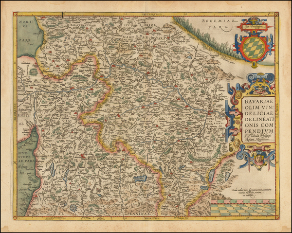 3-Germany Map By Abraham Ortelius