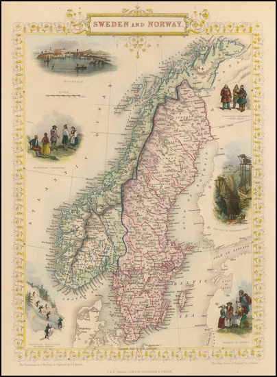 7-Scandinavia Map By John Tallis