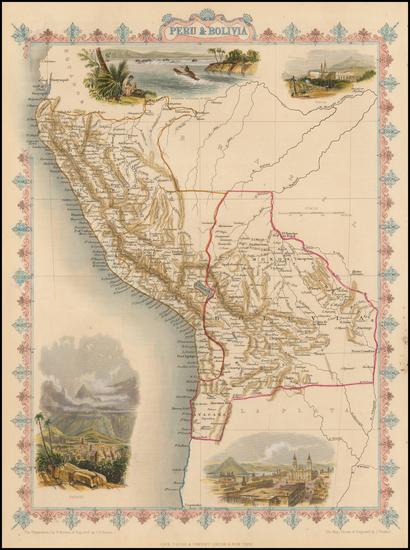 65-Paraguay & Bolivia and Peru & Ecuador Map By John Tallis