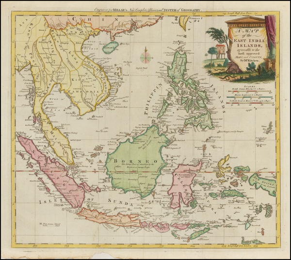 27-Southeast Asia, Philippines and Other Islands Map By Thomas Kitchin