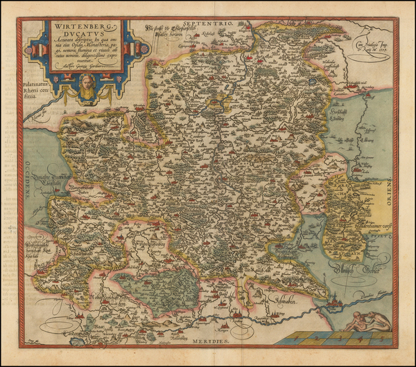 20-Germany Map By Abraham Ortelius