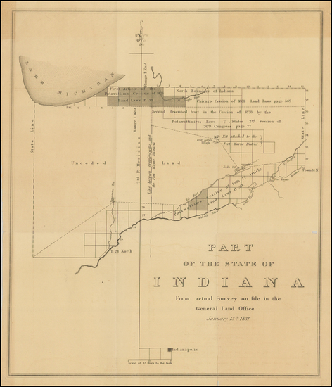 37-Indiana Map By