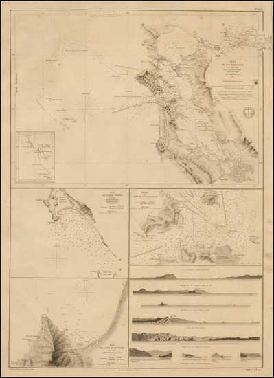 70-California and San Francisco & Bay Area Map By Depot de la Marine / Frederick William Beech