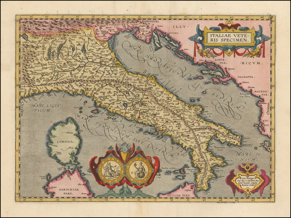 5-Italy Map By Abraham Ortelius