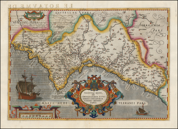 61-Spain Map By Abraham Ortelius