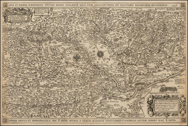 61-Hungary, Romania and Balkans Map By Cornelius Nicol / Davit  de Meijne